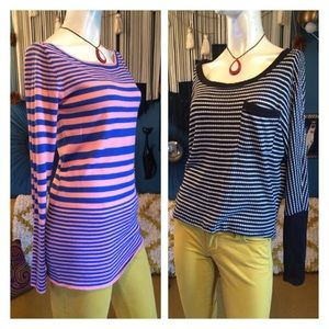 Bongo Striped Sweater Bundle Long & Cropped S/M